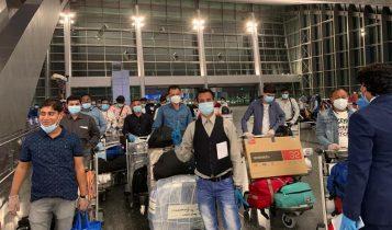 कतार, दुवई र कुवेतबाट ४५९ जना नेपाली स्वदेश आइपुगे