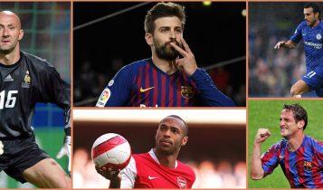 विश्वकप, च्याम्पियन्स लिग, प्रिमियर लिग जित्ने पाँच खेलाडी