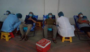 इसाई समाजद्धारा दमकमा ४०औं रक्तदान कार्यक्रम