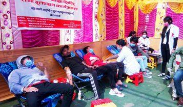 सौजन्य सहकारी संस्थाले गर्यो मंगलबारे बजारमा आँखा शिविर र रक्तदान कार्यक्रम