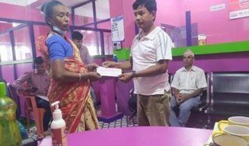सहारा नेपाल कुमुदिनी सेवाकेन्द्र शिबसताक्षी-६ अन्तर्गत मृतक शेयर सदस्यका परिवारलाई आर्थिक सहयोग