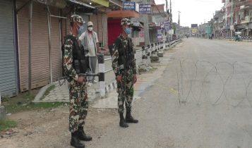 देशका ४१ जिल्लामा कतै निषेधाज्ञा कतै लकडाउन, पर्सामा सेना परिचालन